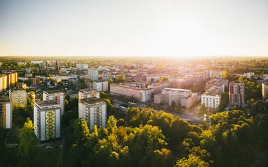 Sosnowiec Urząd Miasta z powietrza (zachód)