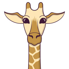 Cute Giraffe. Print for fabric, t-shirt, poster. Vector illustration