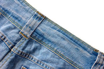 jeans on white background.