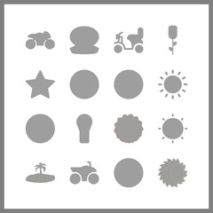 wallpaper icon. star and palm vector icons in wallpaper set. Use this illustration for wallpaper works.