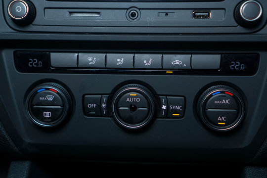 Modern car Air Conditioning unit controller with auto climate