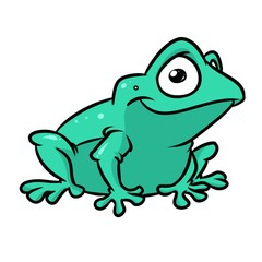 Frog smile kind animal character cartoon illustration isolated image