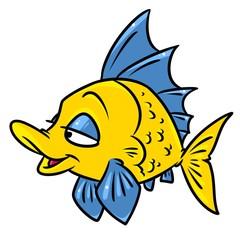 Colorful fish cartoon illustration isolated image