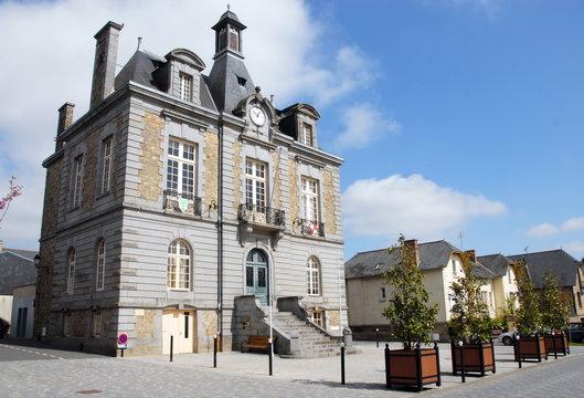 Ville de Combourg, Mairie ou l'Hôtel de ville, département d'Ille-et-Vilaine, Bretagne, France