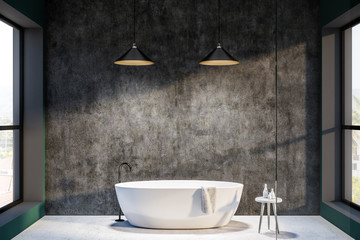 Minimalistic concrete bathroom interior