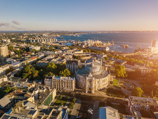 In de dag Historisch geb. Odessa from the top. sightseeing Opera and Ballet Theater. aerial photography. Top view. Ukrainian most interesting cities
