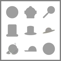 9 image icon. Vector illustration image set. watermelon and x ray icons for image works