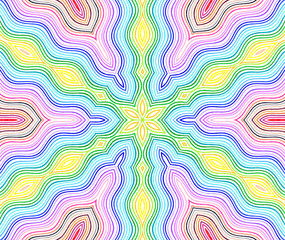 Bright color wavy lines pattern
