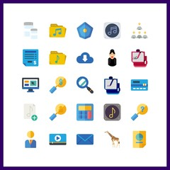 laptop icon. distance and manager vector icons in laptop set. Use this illustration for laptop works.