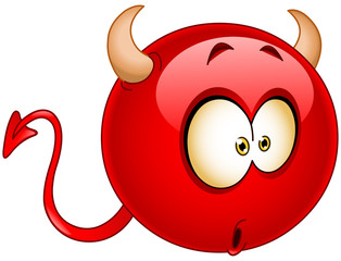 Wonder devil emoticon