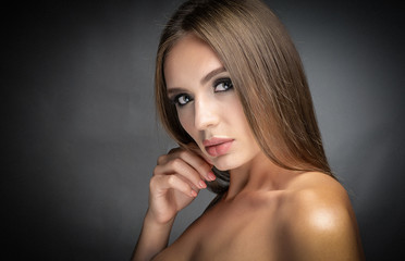 portrait of a beautiful well-groomed girl