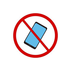 Do not use phone vector sign