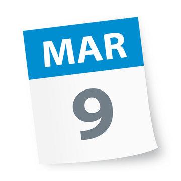 March 9 - Calendar Icon