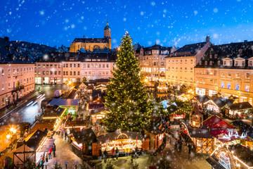 Fotomurales - Weihnachtsmarkt in Annaberg-Buchholz im Erzgebirge, Sachsen, Deutschland