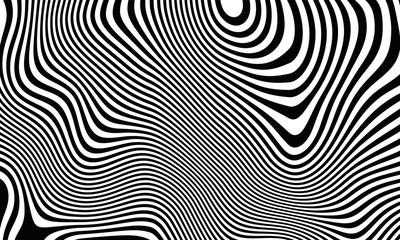 Abstract striped background in a zebra style. 3D rendering