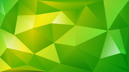 Abstract polygonal background of many triangles in green colors