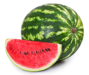 Fototapete - Fresh watermelon on white background