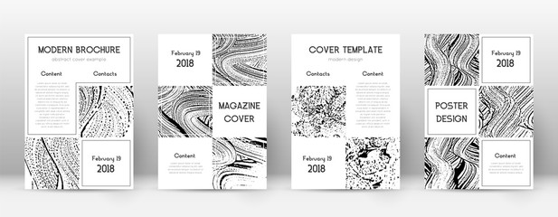 Cover page design template. Business brochure layout. Beautiful trendy abstract cover page. Soap inv