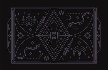 Infinity Magic Symbol. Mystic Symbol. Vector Illustration.