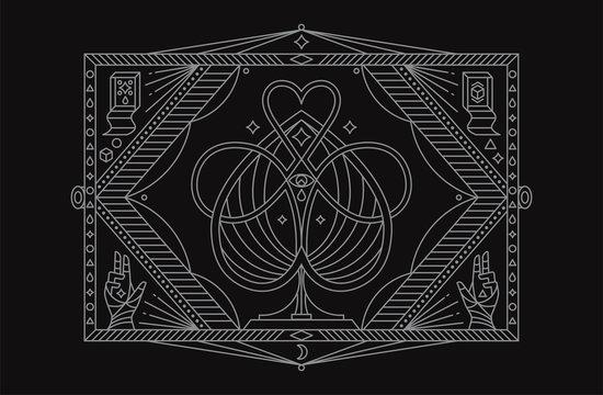 Magic Symbol. Mystic Symbol. Vector Illustration.
