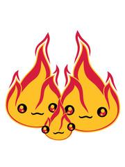 baby kind junges familie 2 freunde team paar liebe pärchen verliebt gesicht süß niedlich klein comic cartoon feuer flamme heiß brennen warm lagerfeuer flammen feuerteufel