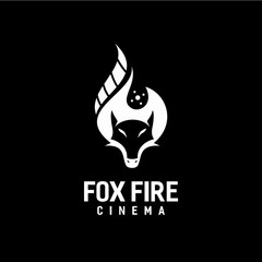 Fox fire and Cinema production Logo Design Concept