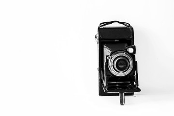 Black VIntage Bellow Film Camera