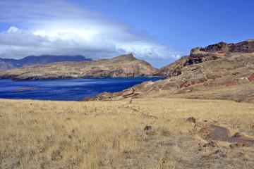 Views on trail to Ponta do Sao Lourenco peninsula, the eastern part of Madeira Island, Portugal
