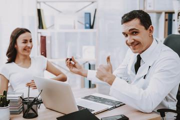 White Coat. Doctor. Consultation. Hospital. Smile.
