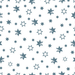Christmas and New Year 2019 background with stars.