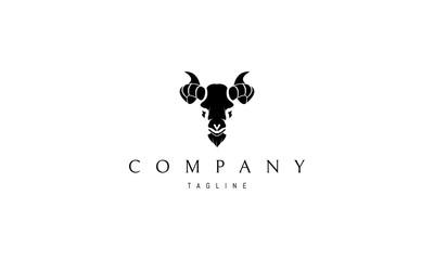 Black Goat vector logo image