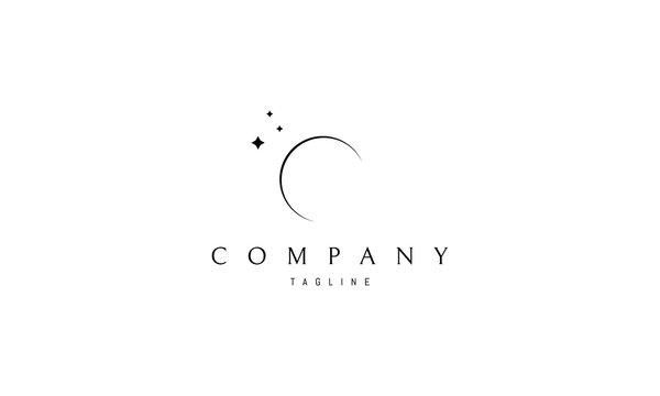 Moon vector logo image