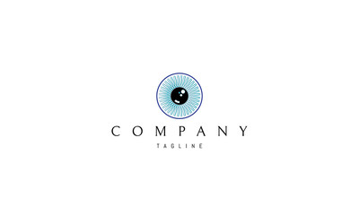 Eye vector logo image
