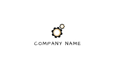 Gears vector logo image