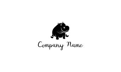 Hippo Baby vector logo image