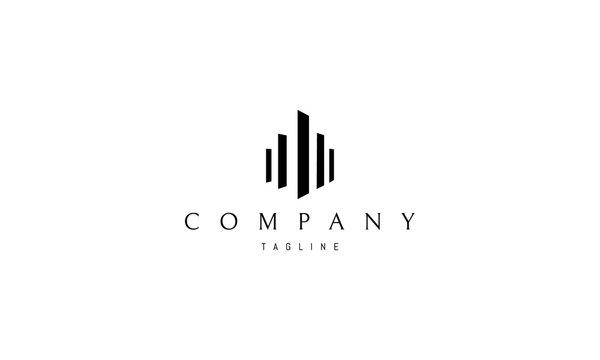 Real Estate Column vector logo image