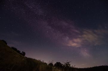 bunter sternenhimmel in der natur