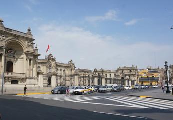 ペルーの旧市街の街並み
