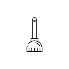 broom icon. Element of Halloween illustration. Premium quality graphic design icon. Signs and symbols collection icon for websites, web design, mobile app