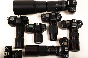 Kameras mit verschiedenen Objektiven