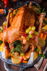 delicious crispy honey goose from the oven