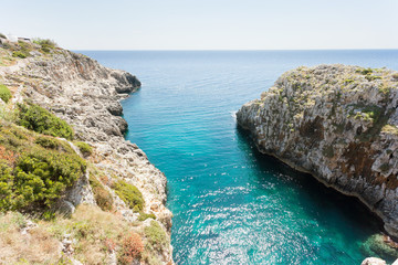 Apulia, Leuca, Grotto of Ciolo - Standing at Grotto Ciolo and looking towards the horizon