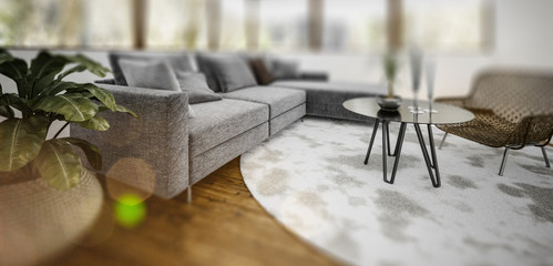 Image of sitting room with slight vignette blur
