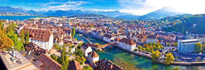 City of Luzern panoramic aerial view Wall mural