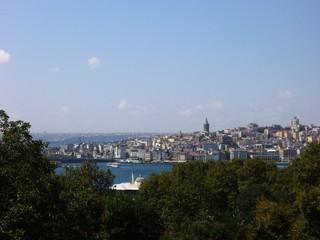 vista della città, istanbul, turchia