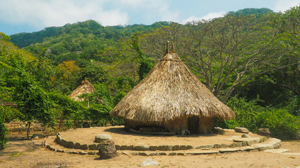 natural ancient reed houses of el pueblito