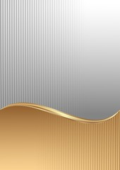 abstract background with stripes texture divided into two
