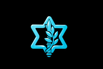 Israel Defense Forces logotype on black background
