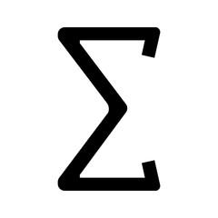 Summation glyph icon