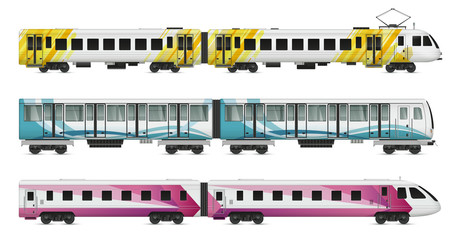 Rail Transport Cars Set